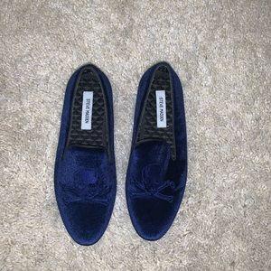 Blue Velvet Steve Madden Slippers